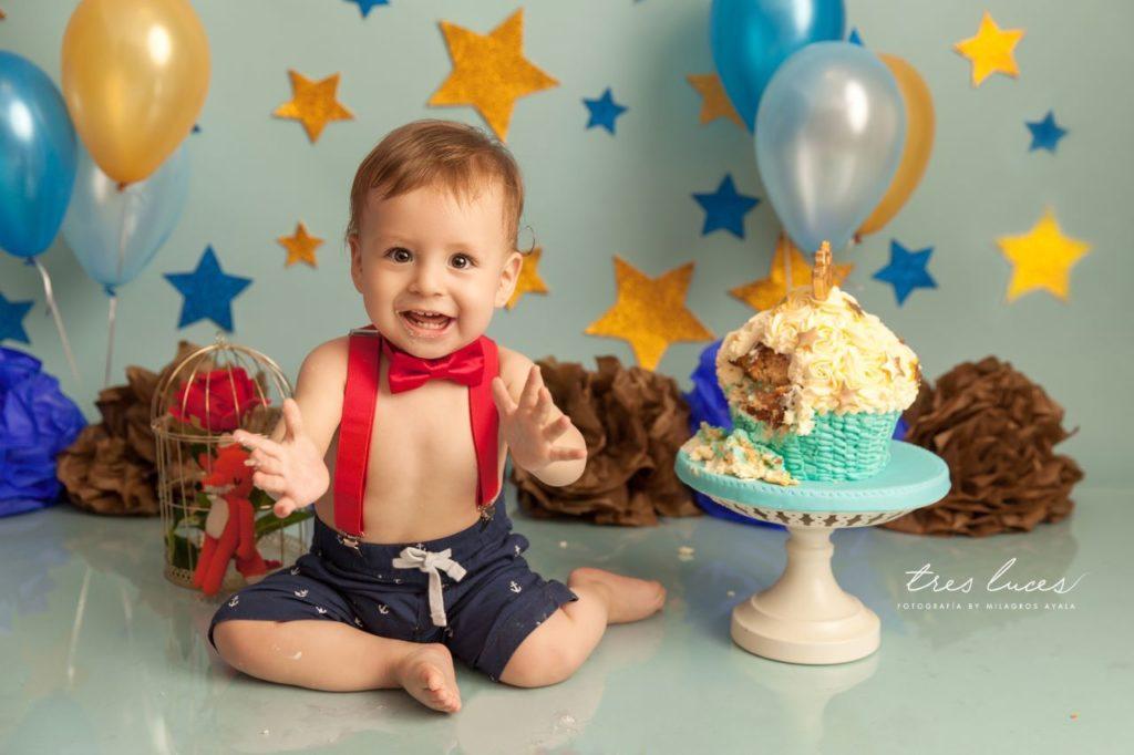 sesion de fotos smash cake