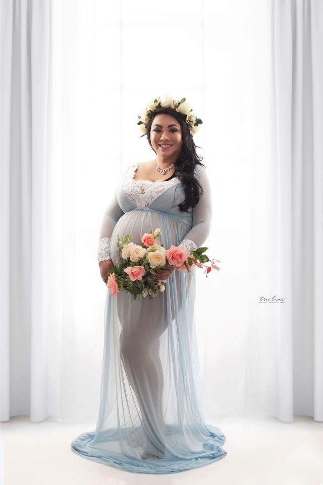 telas sesión de embarazadas