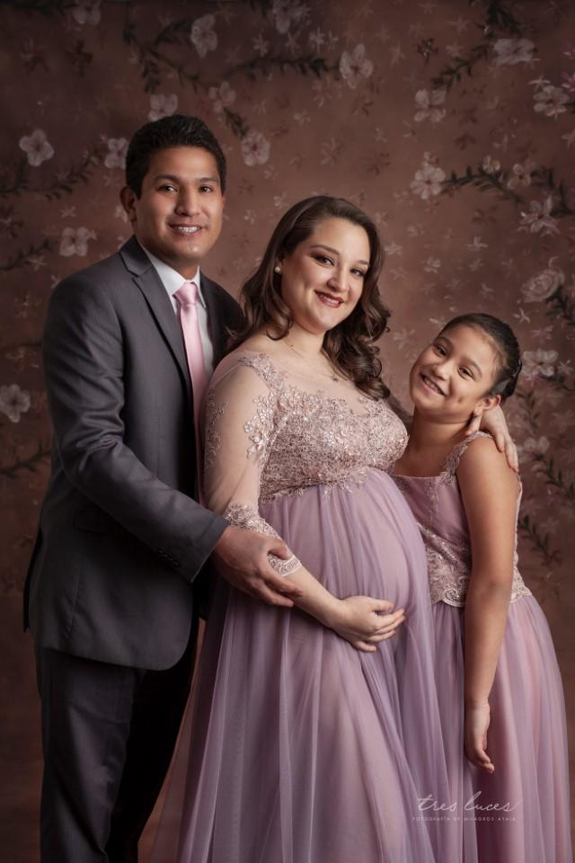 sesion de fotos para embarazadas con esposo e hijos